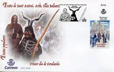 Spain 2018 FDC Festes de Sant Antoni Arta 1v Cover Festivals Architecture Stamps