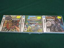 POKEMON PLATINUM & DIAMOND & MYSTERY DUNGEON Nintendo DS Red Black Seal NEW PAL
