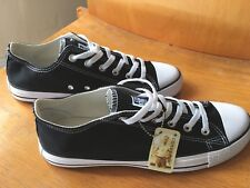 CONVERSE trainers 8.5 mens low ox black white mono 8 9 42 42.5 43 all star hi UK