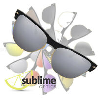 212419c3571 POLARIZED Metallic Silver Replacement Lenses for Ray Ban Clubmaster RB4175