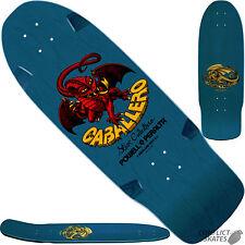 "POWELL PERALTA Cab ""Dragon"" Skateboard Deck #1 BLUE Bones Brigade Caballero 10"""