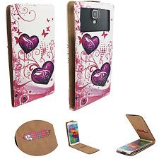 THL T6C - Schutz Hülle Handy - Flip M Liebe Schmetterling