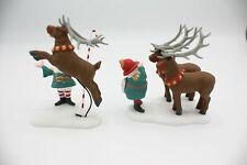 Department 56 North Pole Reindeer Training Camp 56436 1998 Retired Original Box