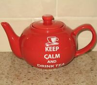 Keep Calm and Drink Tea Teapot The Old Pottery Company Small