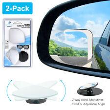 "2 Pack HD Frameless Blind Spot Mirror - Fan Shaped 2.5"" Convex Glass View Mirror"