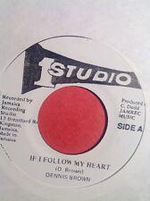 "7"" STUDIO ONE IF I FOLLOW My HEART, / VERSION DENNIS BROWN"