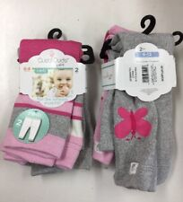 Cuddl Duds Baby Girls Pants, Sizes 0-6, 6-12 Mos., 2 Pair -Pink &Gray, NWT  V3