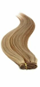 """Euro Weave Hair Extensions 18"""" Brown Sunshine Mix 8/24"""
