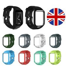 TomTom Spark Runner Golfer 2 + 3 Replacement Watch Strap Silicone - Metal Buckle