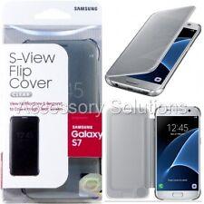 Samsung Galaxy S7 S-View Flip Clear View Case Cover Silver, EF-ZG930CSEGUS