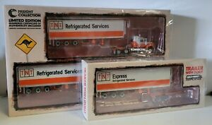 1:64 Highway Replicas Mack TNT Refrigerated Services Road Train + Extra Trailer
