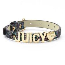Juicy Couture ''Juicy'' Black Metallic Pet Dog Collar - Limited Edition!