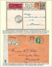 Switzerland covers Collection SITZENDE HELVETIA specialised  cens COVER + PC