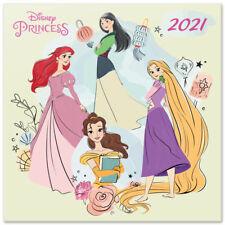 Disney Princess  (Free Poster) Official Calendar 2021