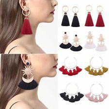 Fashion Women's Vintage Ethnic Long Tassel Fringe Boho Earrings Dangle Earrings