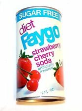 Vintage Diet Faygo Strawberry Cherry Soda Pop Top Can A1+ Drink Flat Sign Ofr
