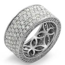 Wedding Bridal Band Vs2 Platinum Ring 4.00 Ct Round Diamond Eternity Anniversary