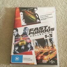 FAST AND FURIOUS 1 AND 2 DVD. NOT 3. NOT TOKYO DRIFT. REGION 2/4