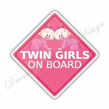 Baby on Board Twins Full Color Adhesive Vinyl Sticker Window Car Bumper 28