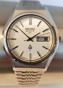 Vintage Seiko Quartz QT 3803 7110 Day/Date Men Watch