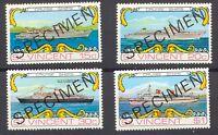 """ST. VINCENT 1974, Passagier-Schiffe, postfrische Kab.-Satz  """"SPECIMEN""""-Aufdruck"""
