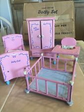 Vintage Baby Sister Dolly Set Wooden Doll Toys