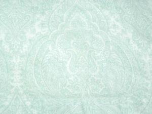 Lauren Ralph Lauren Blue Off White Paisley Pattern Medallion Twin Flat sheet