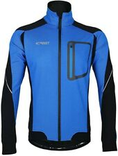 iCreat Mens Cycling Jacket Windproof Lightweight High Visibility Warm Long MTB
