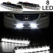 2pc Daytime Driving Running 8 LED White Light DRL Car Waterproof Frog Lamp Auto