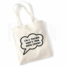 Super Power Teacher Canvas Tote Bag- GIFT FOR THANK YOU TEACHER