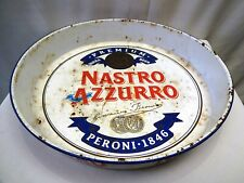 """Nastro Azzurro Beer Peroni Brewery Italy Vintage Advertising Tin Tray Sign Old""""F"""