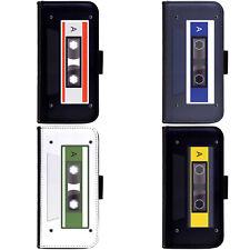 Art Cassette Tape Design Phone Wallet Flip Case Cover for HTC Nokia Oppo Xiaomi