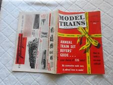 MODEL TRAINS  Magazine-DECEMBER,1958-ANNUAL TRAIN SET BUYERS' GUIDE
