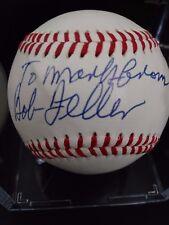 Bob Feller Autographed Ball Signed on Sweet Spot JSA COA S78548
