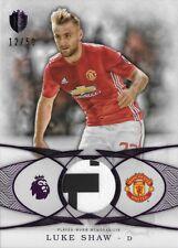 2016 TOPPS PREMIER GOLD Luke Shaw Manchester Utd Purple Jersey Relic Patch /50