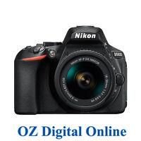 New Nikon D5600 AF-P 18-55 VR Kit WiFi NFC FullHD 24.2MP Camera Black 1YrWty