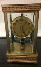 4 GLASS SIDED ELECTRIC FRENCH BULLE CLOCK (BREVETE S.G.D.G) (WORKING)