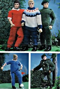 Action Man Knitting Pattern to make 5 outfits Army Football