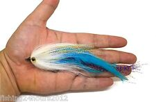 """6"""" Trout Salmon Steelhead Pike Fly Fishing Streamer Flies Blue NEW"""
