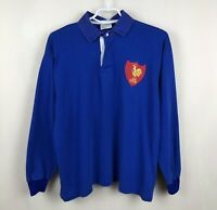 NATIONAL TEAM FRANCE 1990s JERSEY SHIRT RUGBY MAILLOT VINTAGE
