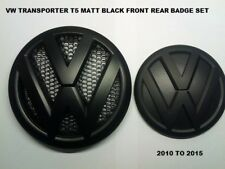 VW Transporter T5 T5-1 Matte Black Front & Rear Badge Set 2010 - 2015.