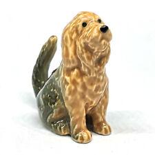 Otterhound Dog Figurine Brown Mini Collectible Ceramic Hand painted Decorative