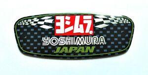YOSHIMURA JAPAN 3D HEATPROOF EXHAUST BADGE STICKER GRAPHIC DECAL SILENCER METAL