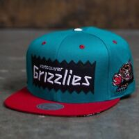 BAIT x NBA x Mitchell And Ness Vancouver Grizzlies STA3 Wool Snapback Cap (teal