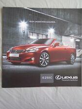 Lexus IS250C range brochure Sep 2010 South African mrket