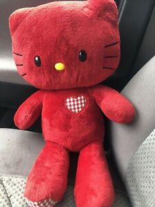 BUILD A BEAR Red Hello Kitty Limited Edition Love Hearts Valentine Sanrio Ginghm