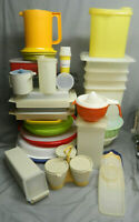Large Tupperware Lot - Vintage Containers With Lids And Replacement Lids