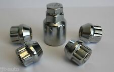 M12 X 1.5 OPEN END LOCKING ALLOY WHEEL LOCK NUTS FIT FORD FIESTA MK6 MK7 MK8