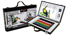 Artiste dessin & dessin Travel Box Set 14 Couleur Graphite Crayons & Pad D7000