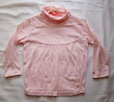 Ouch Girls Long sleeve High turtle neck top pink - Size 3 NEW